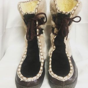 Awesome Vintage 50's snow land snowboots